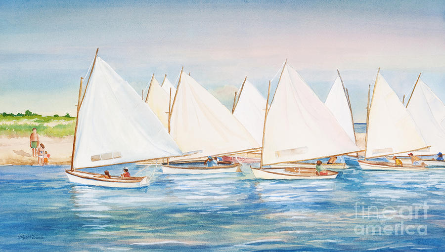 Sailing Painting - Sailing In The Summertime II by Michelle Wiarda
