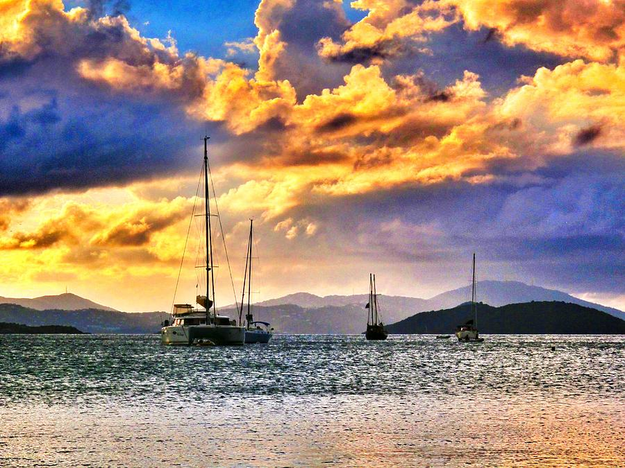 Sunset Photograph - Sailing In The Sunset by Emily Eisenberg