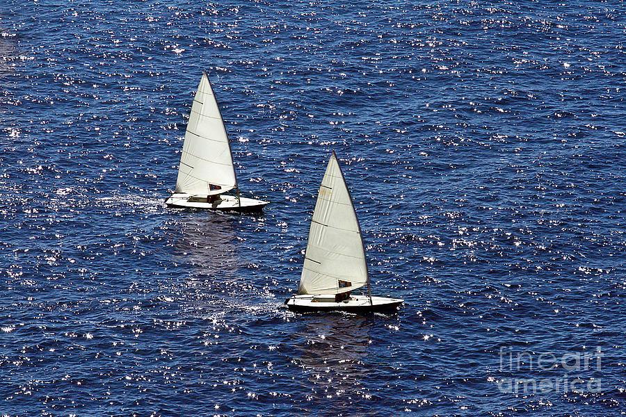 Sail Photograph - Sailing by Lars Ruecker