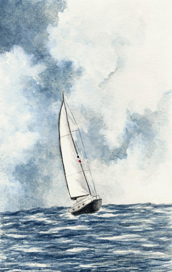 Sailboat Painting - Sailing by Michael Vigliotti