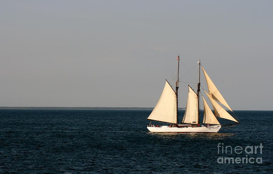Sail Photograph - Sailing Nantucket Sound by Barbara Bardzik