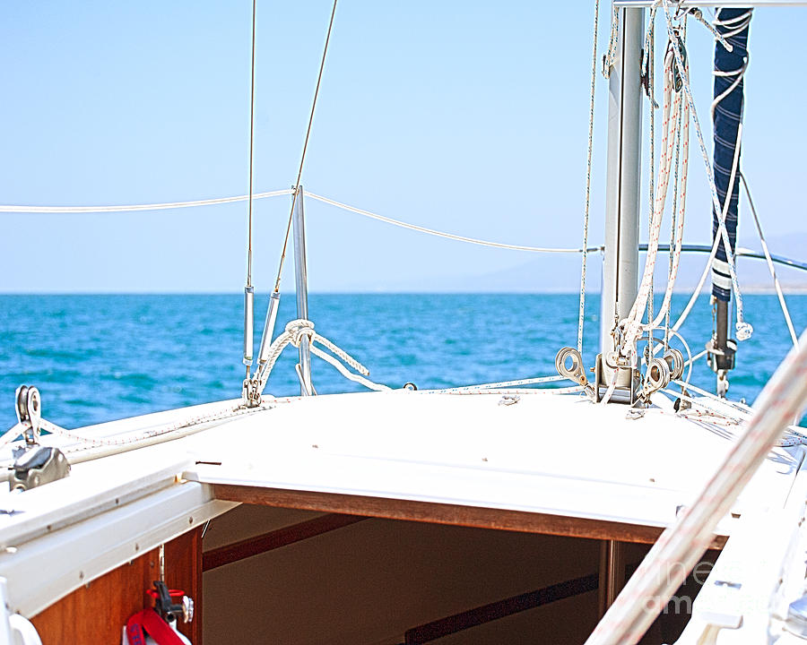 Sailboat Photograph - Sailing On A Fine Sunny Day by Artist and Photographer Laura Wrede