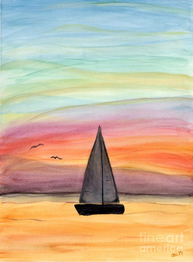 Sailing On A Summer Night by Anne Clark