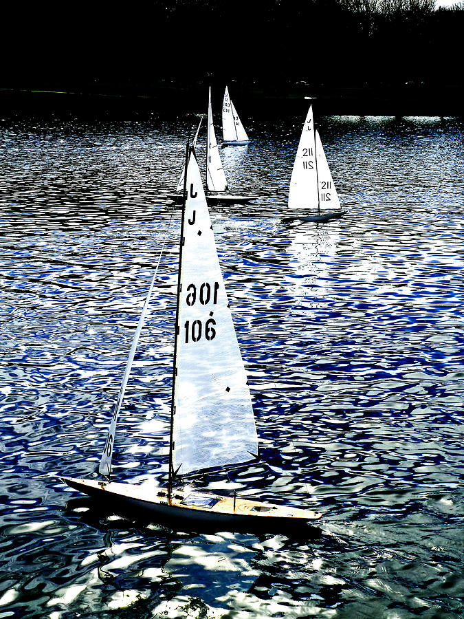 Remote Control Photograph - Sailing On Blue by Steve Taylor