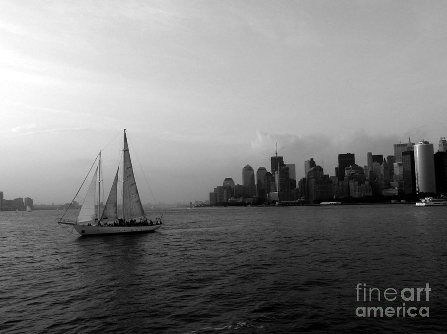 Hudson River Photograph - Sailing On The Hudson by Avis  Noelle