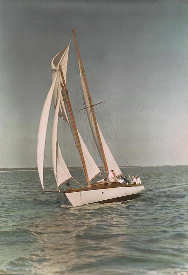 Sailboats Photograph - Sailing, One Of The Many Sports by J. Baylor Roberts