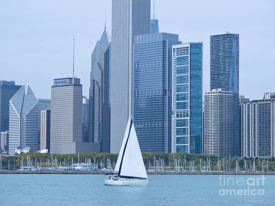 Sailing Past Chicago Photograph