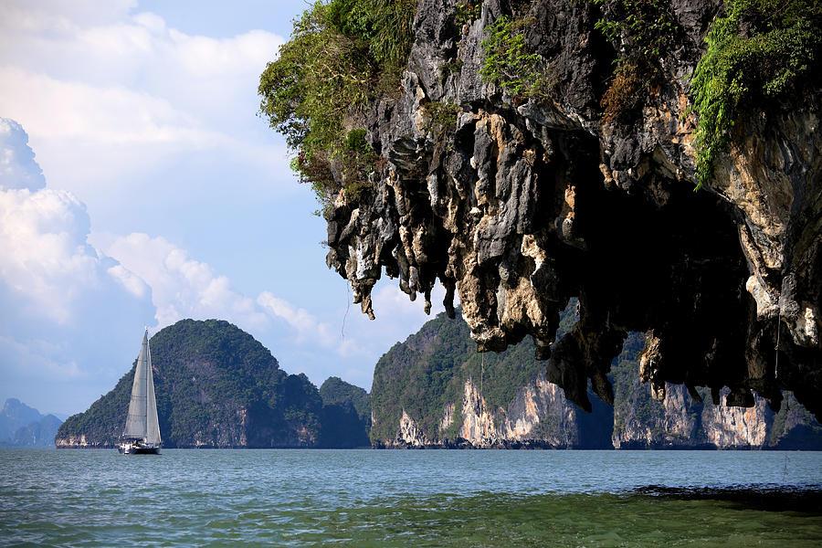 Sailing Sailboat Phuket Province Phang Photograph by Laughingmango