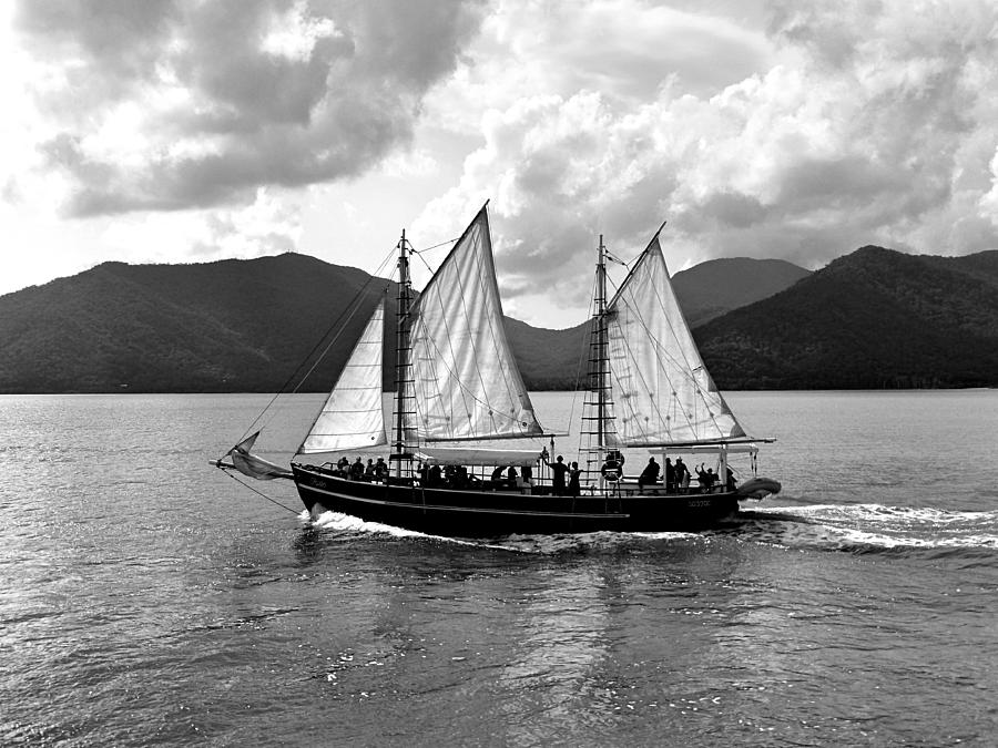 Sailing Photograph - Sailing Ship Black And White by Girish J