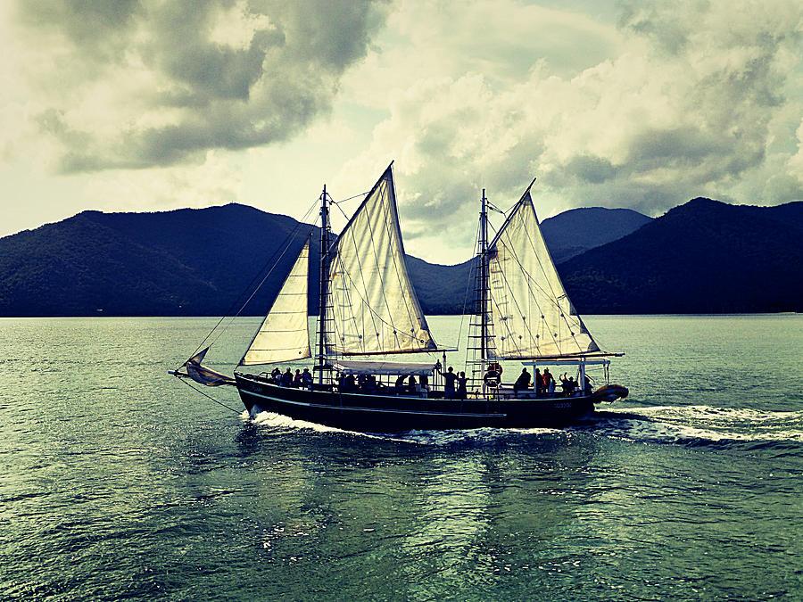Sailing Photograph - Sailing Ship by Girish J