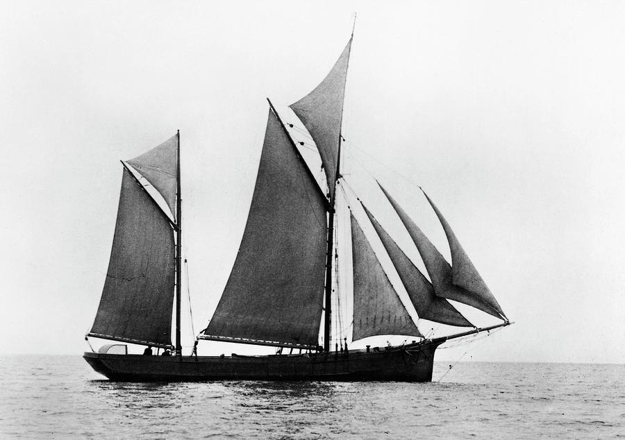 1876 Photograph - Sailing Ship Ketch, 1876 by Granger