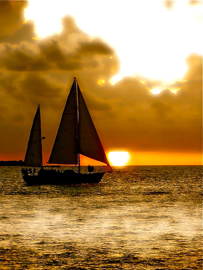 Key West Photograph - Sailing The Keys by Iconic Images Art Gallery David Pucciarelli