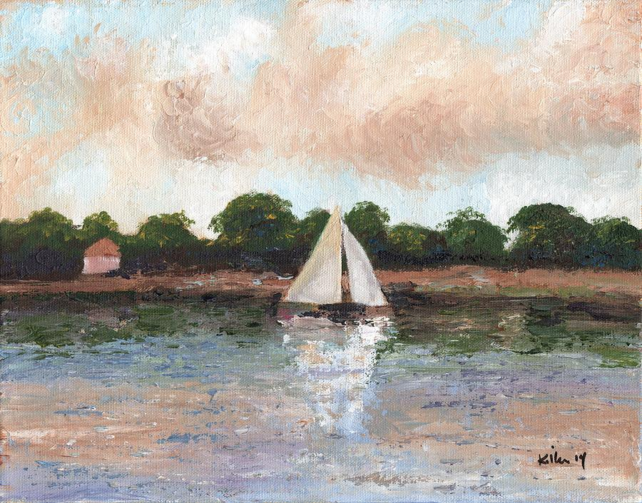 Surrealist Painting - Sailing The Lagoon by William Killen