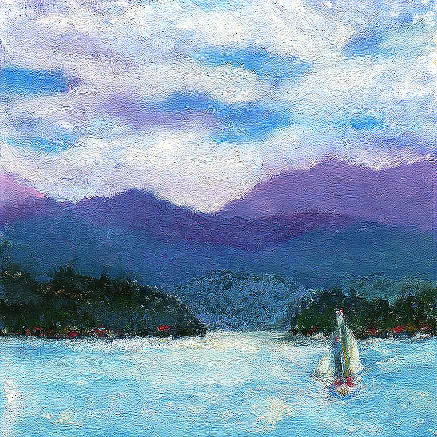 Miniature Painting - Sailing The Lake by David Patterson