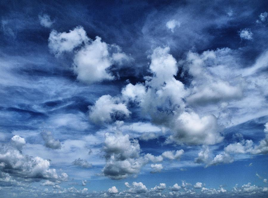 Clouds Photograph - Sailing The Ocean Blue by Tom Druin