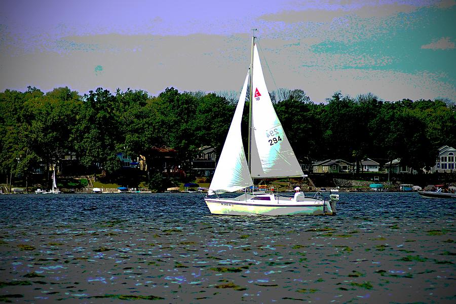 Lakes Photograph - Sailing by Thomas Fouch