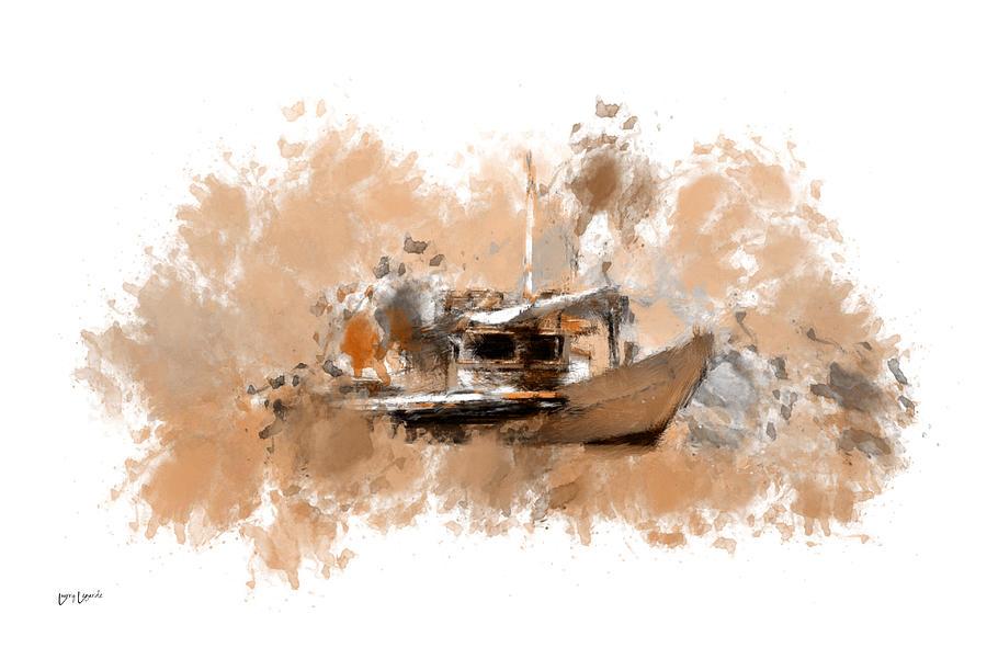 Fishing Boat Digital Art - Sailing Time by Lourry Legarde