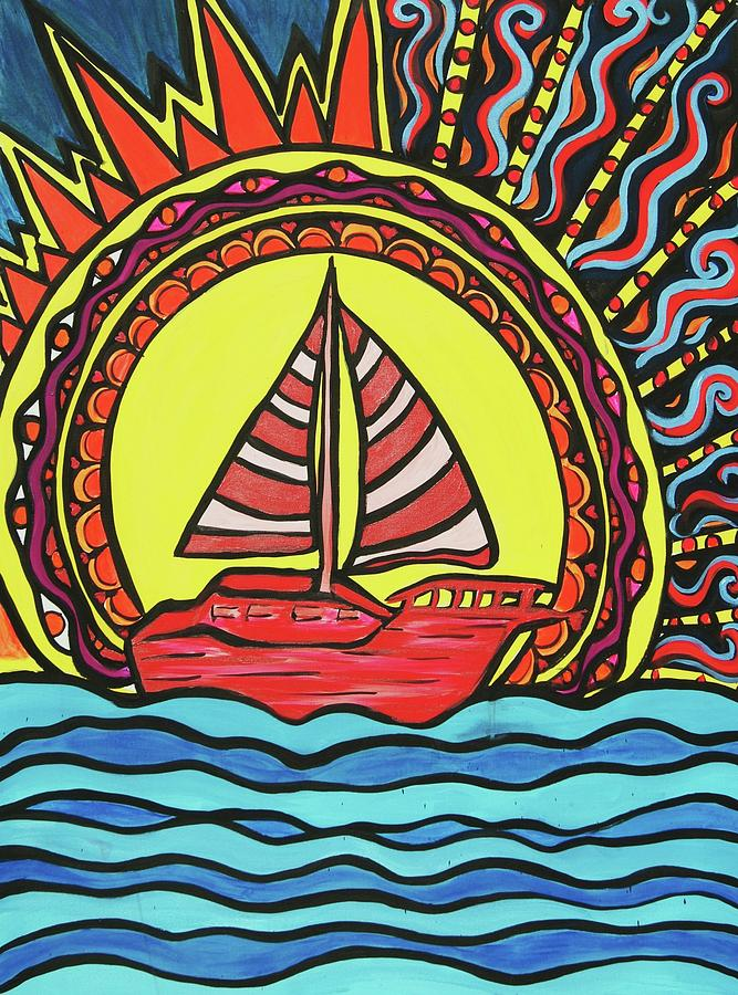 Sun Painting - Sailing To The Sun by Lorinda Fore