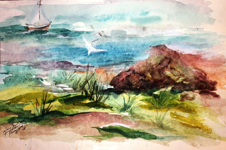 Sailing Painting - Sailing Towards Anywhere by Mary Spyridon Thompson