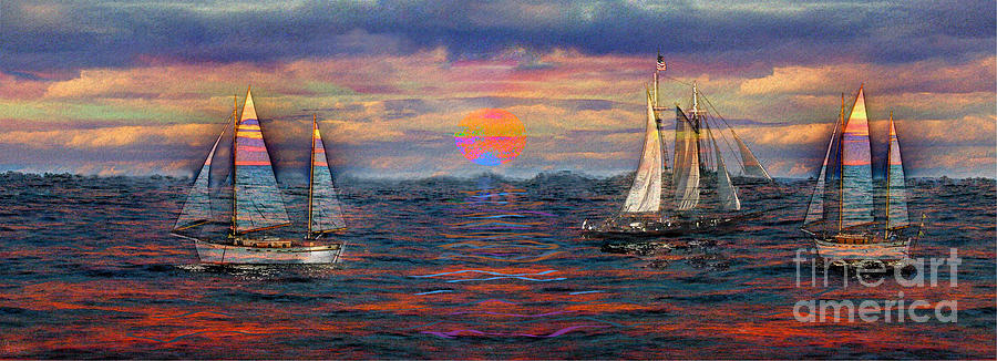 Dreaming Photograph - Sailing While Dreaming by Jeff Breiman
