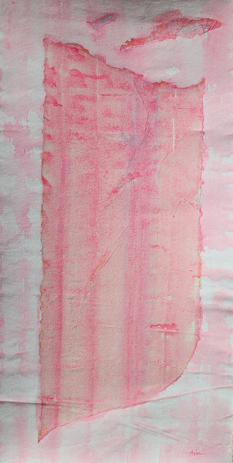 Abstract Painting Painting - Sailing With Clouds In Pink by Asha Carolyn Young