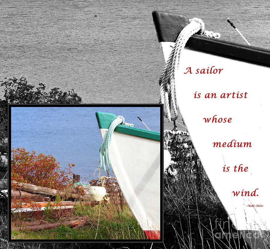 Sailor Photograph - Sailor - Wind - Water - Boats by Barbara Griffin
