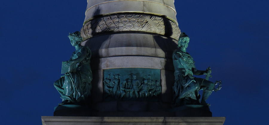 Monument Photograph - Sailors And Soldiers Monument By Night by Stephen Melcher