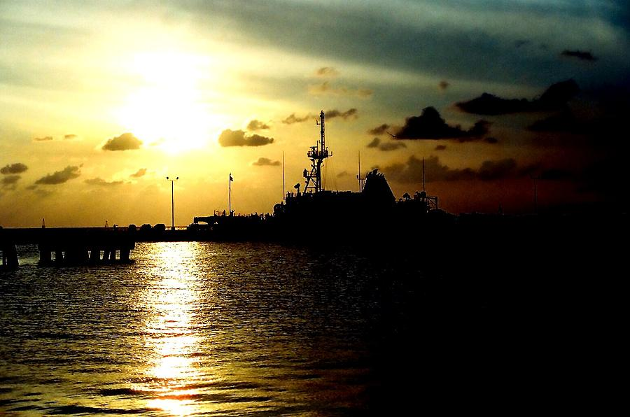 Navy Ship Photograph - Sailors Morning by Amy Sorrell
