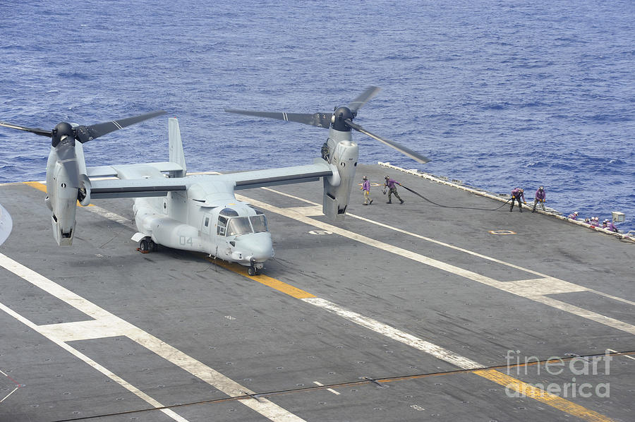 Sailors Move Into Position To Refuel Photograph