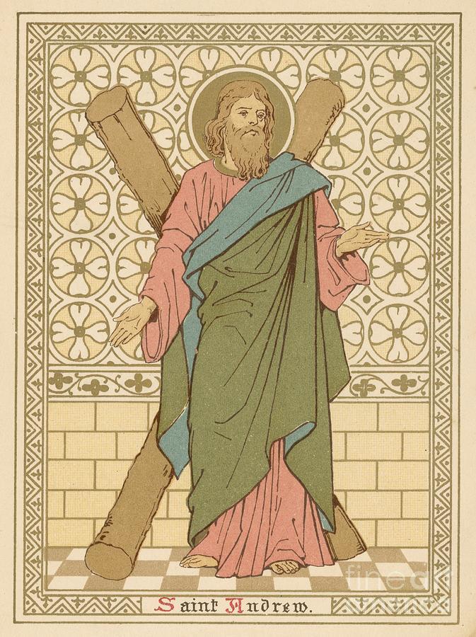 Saint Painting - Saint Andrew by English School
