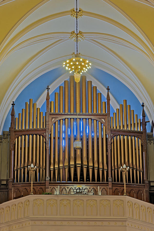Organ Photograph - Saint Bridgets Pipe Organ by Susan Candelario