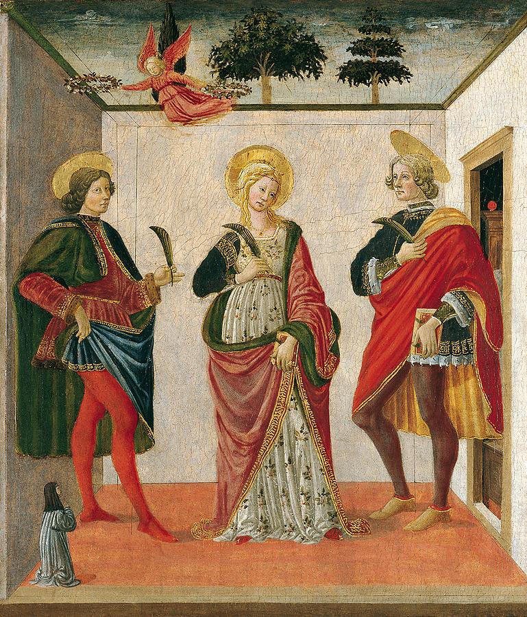 Saint Cecilia Between Saint Valerian And Saint Tiburtius ...