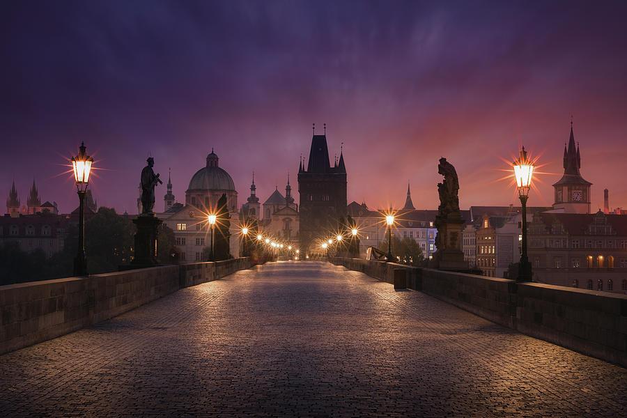 Prague Photograph - Saint Charles Bridge, Prague by Inigo Cia