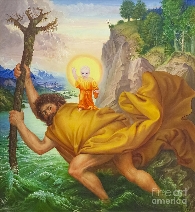 Christopher Photograph - Saint Christopher By Otto Dix by Roberto Morgenthaler