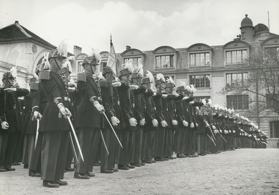 Retro Photograph - Saint Cyr Cadets At Ecole Polmtechnique by Retro Images Archive