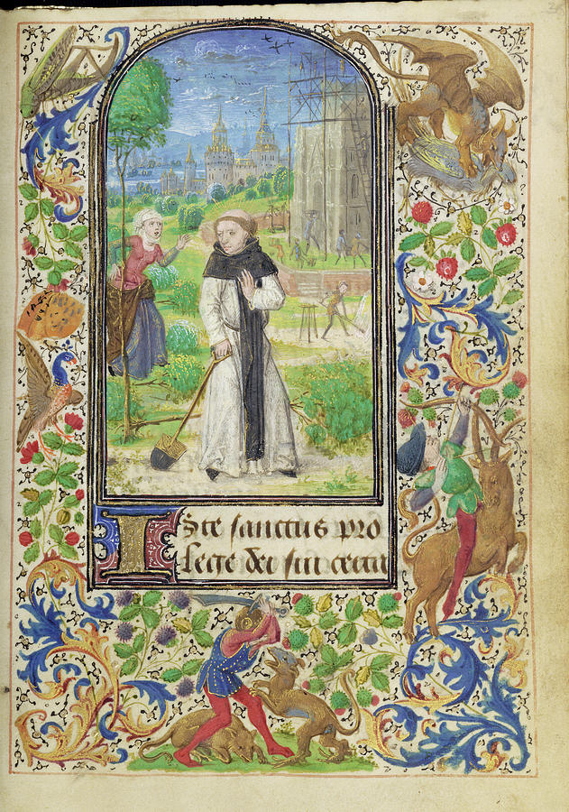 Shrew Painting - Saint Fiacre And The Shrew Houpdée Becnaude Or Baquenaude by Litz Collection
