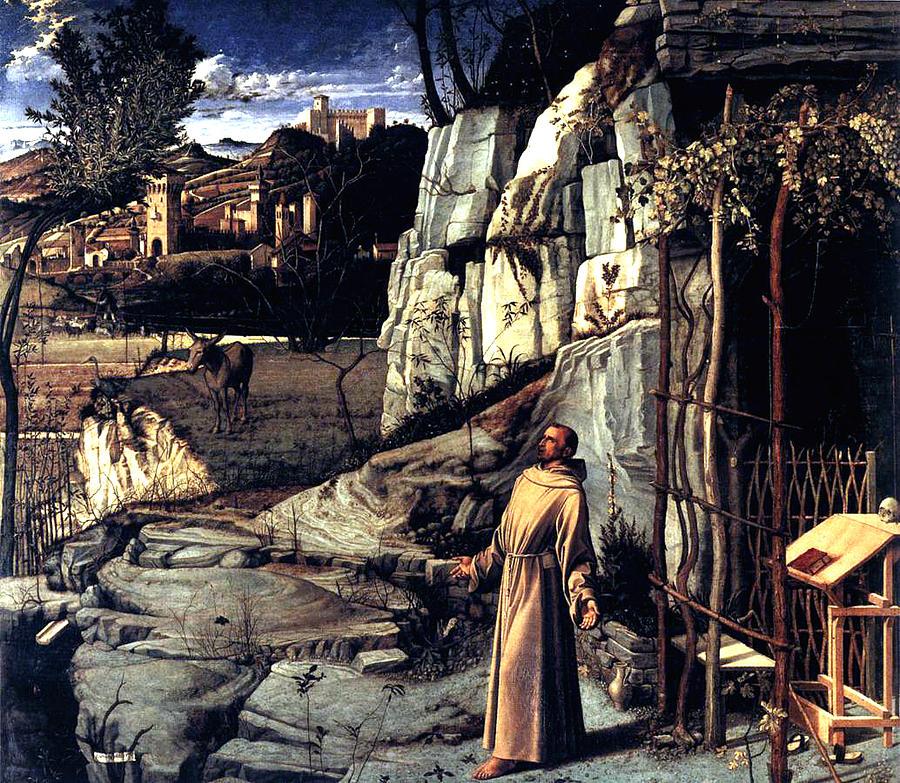 St. Francis In Ecstasy Painting - Saint Francis In Ecstasy 1485 Giovanni Bellini by Karon Melillo DeVega
