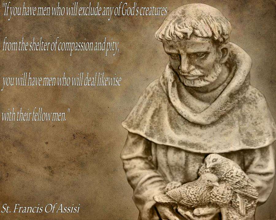 Saint Francis Of Assisi Photograph - Saint Francis Of Assisi by Dan Sproul