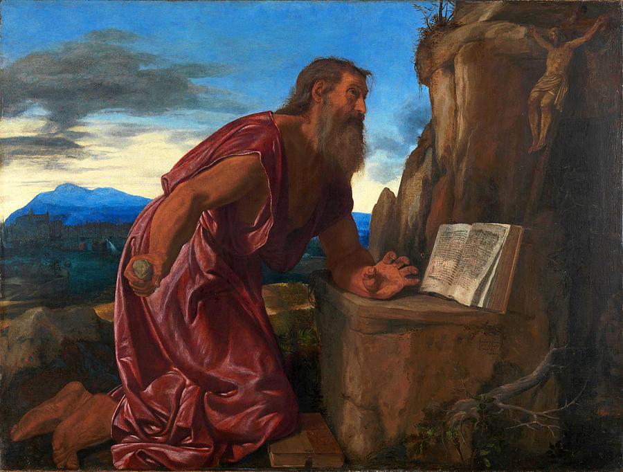 Giovanni Gerolamo Savoldo Painting - Saint Jerome by Giovanni Gerolamo Savoldo