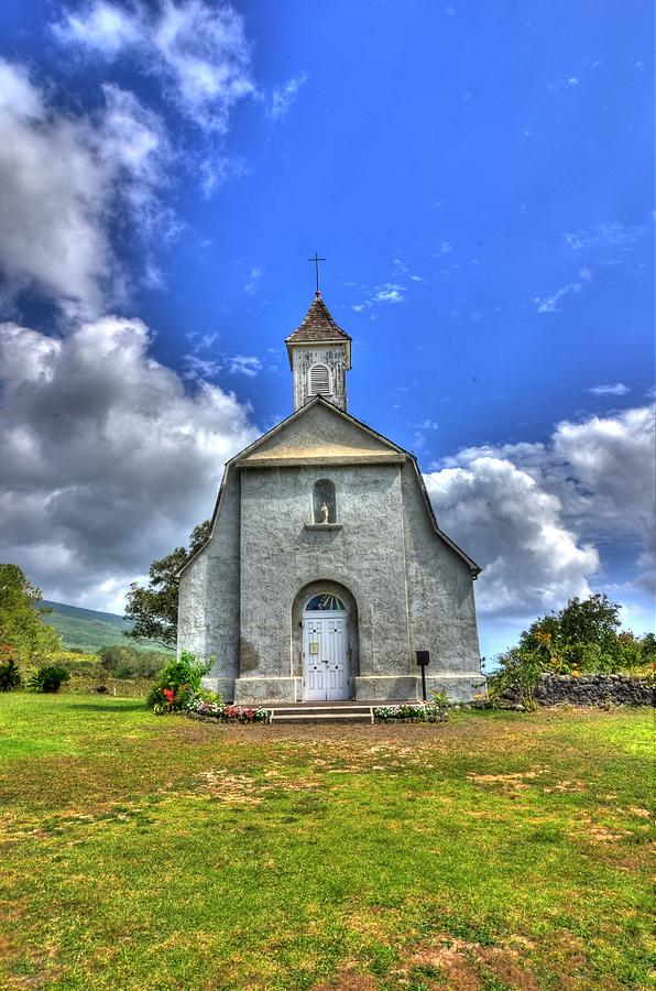 Church Photograph - Saint Joesephs Church Maui  Hawaii by Puget  Exposure