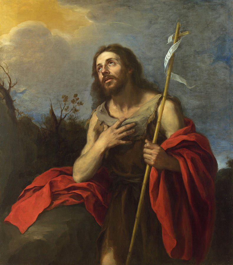 Bible Quotes About St John The Baptist: Saint John The Baptist In The Wilderness Painting By