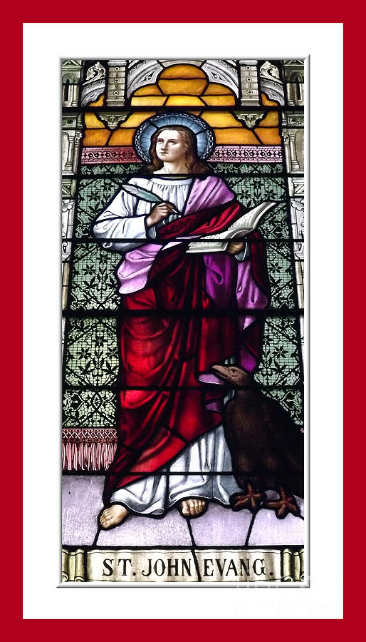 Saint John The Evangelist Photograph - Saint John The Evangelist Stained Glass Window by Rose Santuci-Sofranko