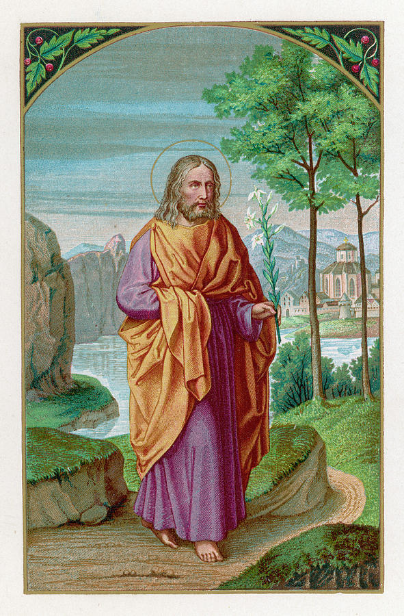 Saint Drawing - Saint Joseph Husband Of Mary, And by Mary Evans Picture Library