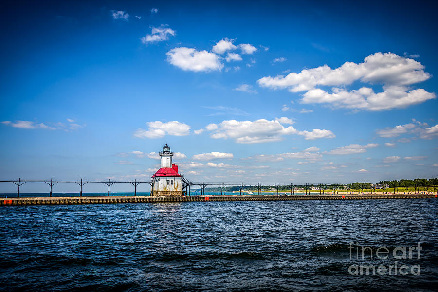 Berrien Photograph - Saint Joseph Lighthouse And Pier Picture by Paul Velgos