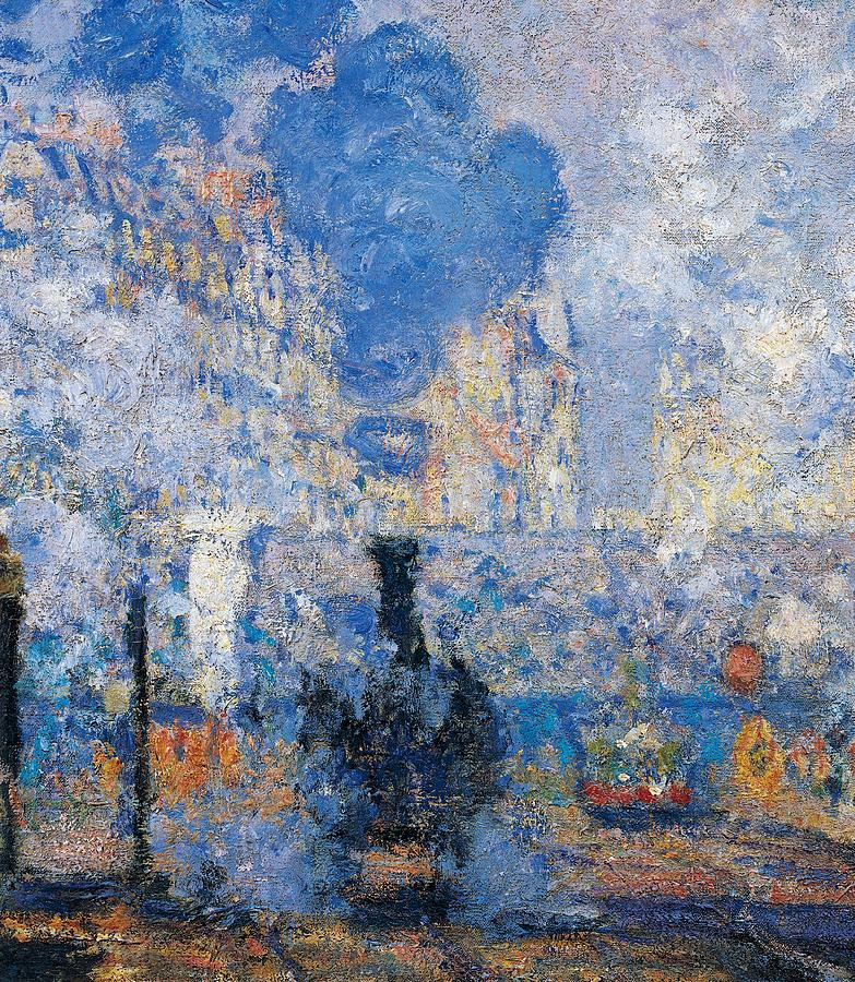 Painting Painting - Saint Lazare Station by Claude Monet
