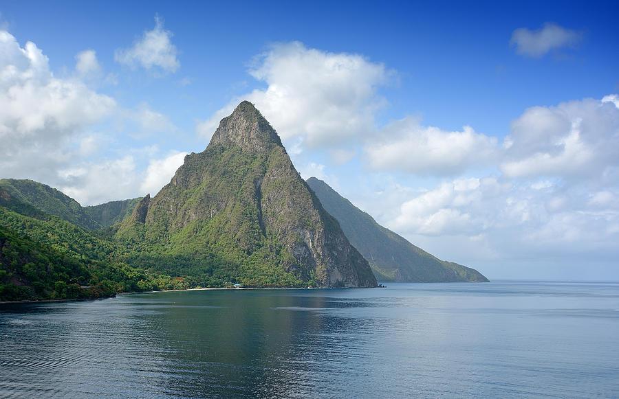 Saint Photograph - Saint Lucia - Piton View by Brendan Reals