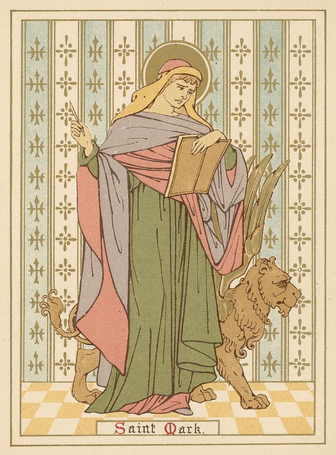 Saint Painting - Saint Mark by English School