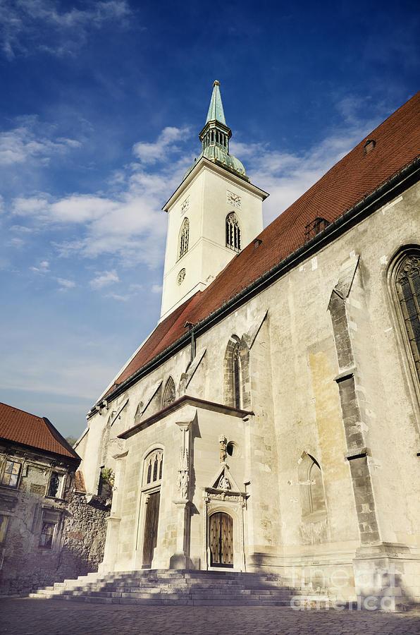 Bratislava Pyrography - Saint Martins Cathedral  by Jelena Jovanovic