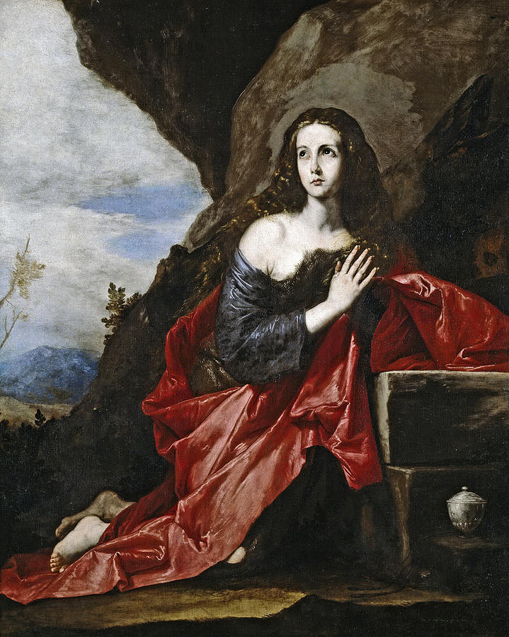 Jusepe De Ribera Painting - Saint Mary Magdalene In The Desert by Jusepe de Ribera
