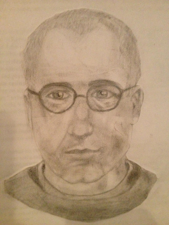 Saint Drawing - Saint Maximillian Kolbe by Noah Burdett